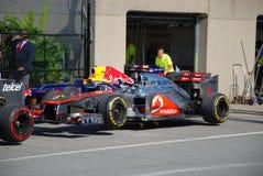 McLaren laufendes Auto in 2012 F1 kanadisches großartiges Prix lizenzfreie stockfotos