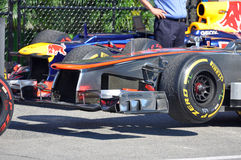McLaren laufendes Auto in 2012 F1 kanadisches großartiges Prix lizenzfreie stockbilder
