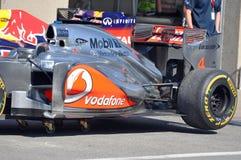 McLaren laufendes Auto in 2012 F1 kanadisches großartiges Prix lizenzfreies stockbild