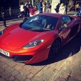McLaren in Liverpool wordt gezien dat royalty-vrije stock foto's