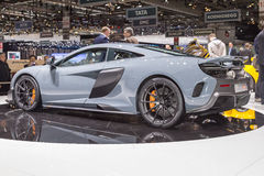 2015 McLaren 675LT. Geneva, Switzerland - March 4, 2015: 2015 McLaren 675LT presented on the 85th International Geneva Motor Show Stock Photo