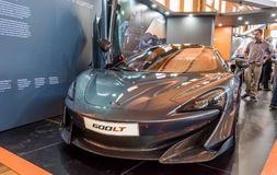 McLaren 600 LT Sports car at Motorclassica. Motorclassica is Australasia's premier event for vintage, classic and exotic motoring enthusiasts. It is royalty free stock photos