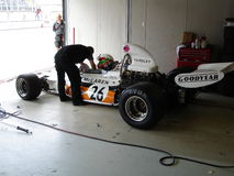 McLaren M19C preparation Stock Photo
