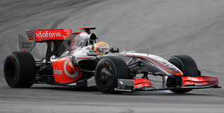 McLaren Mercedes F1 Team Lewis Hamilton 2009 Stock Photos