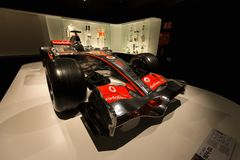 Mclaren MP4-22 de F1 con el cual compitió Fernando Alonso Imagen de archivo