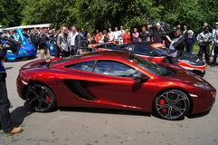 McLaren MP4 12C driven by Jensen Button Stock Photos