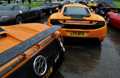 McLaren MP4-12C and Pagani Zonda F Royalty Free Stock Photos