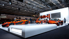 McLaren mp4-12c Supercars at Paris Motor Show 2012 Royalty Free Stock Photography