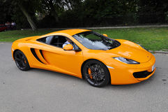 McLaren orange MP4-12C Photographie stock