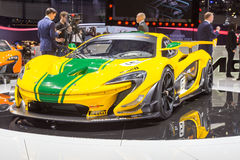 2015 McLaren P1 GTR. Geneva, Switzerland - March 4, 2015: 2015 McLaren P1 GTR presented on the 85th International Geneva Motor Show Royalty Free Stock Image