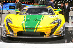 2015 McLaren P1 GTR. Geneva, Switzerland - March 4, 2015: 2015 McLaren P1 GTR presented on the 85th International Geneva Motor Show Royalty Free Stock Photography