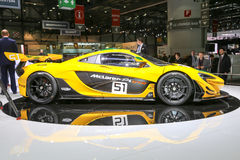 2015 McLaren P1 GTR. Geneva, Switzerland - March 4, 2015: 2015 McLaren P1 GTR presented on the 85th International Geneva Motor Show Royalty Free Stock Images