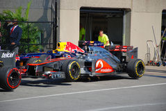 McLaren Racing Car in 2012 F1 Canadian Grand Prix Royalty Free Stock Photos