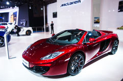 A Mclaren Roadster. Take on the 16th Chongqing International Motor Show, June 6th-12th, 2014. There are many international famous brand companies and Royalty Free Stock Images