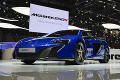 Mclaren 650S coupe at the Geneva Motor Show Royalty Free Stock Images