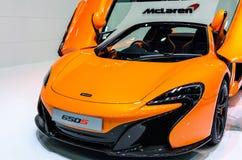 McLaren 650S on display at The 37th Bangkok International Motor Show Royalty Free Stock Photos