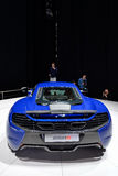 McLaren 650S at the Geneva Motor Show. The McLaren 650S at the Geneva Motor Show 2014 Royalty Free Stock Images
