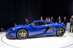 McLaren 650S motor car. McLaren 650S car pictured at the Geneva Motor Show in Switzerland, 2014 Royalty Free Stock Photo