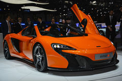 Mclaren 650S Spider at the Geneva Motor Show Royalty Free Stock Photography