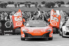McLaren 650S Spider - Gumball 3000 - 2016 Edition - Dublin to Bucharest Royalty Free Stock Image