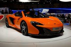 McLaren 650S spindelGenève 2014 Arkivfoton