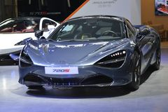 McLaren 720S sportscar. Guangzhou, China - November 18, 2017: The new McLaren 720S sportscar was exhibited in the 15th China Guangzhou International Automobile Stock Images