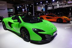 Green McLaren sport car Royalty Free Stock Photography