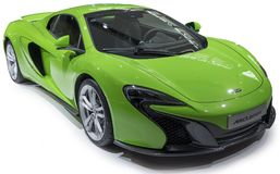 Mclaren sports car. Green Mclaren sports car isolate on white Royalty Free Stock Images