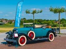 McLaughlin Buick 29-54CC Oldtimer bij de jaarlijkse nationale oldtimerdag in Lelystad Royalty-vrije Stock Foto's