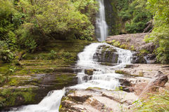 McLean Falls in The Catlins region of New Zealand Royalty Free Stock Photos