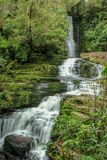 McLean Falls at The Catlins, South Island, New Zealand.  royalty free stock photo