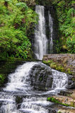 Mclean Falls in New Zealand. View of Mclean Falls on the Southern Scenic Route in New Zealand royalty free stock images