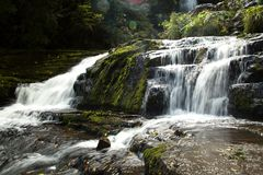 The McLean Falls on the Tautuku River in New Zealand Stock Photo