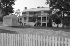 Mcleanhuis - Appomattox-Hof Huis Nationaal Historisch Park Stock Afbeelding
