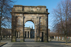 McLennan Arch at the entrance to Glasgow Green, Glasgow, Scotland, UK Royalty Free Stock Images