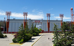 McMahon Stadium. In Calgary, Alberta, home of the CFL Stampeders (and Gators, Dinos, Colts, Wolfpack and NHL outdoor winter ice hockey Stock Photos