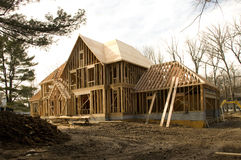 McMansion house under construction Royalty Free Stock Image