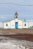 McMurdo Station, Antarctica. Chapel of the Snows at McMurdo station, Antarctica. This American base is operated by the United States Antarctic Program and houses Stock Images