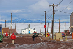 McMurdo Station, Antarctica Royalty Free Stock Photos