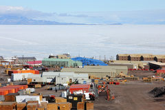 McMurdo station, Ross Island, Antarctica Royalty Free Stock Photos