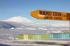 McMurdopost, Antarctica Royalty-vrije Stock Fotografie