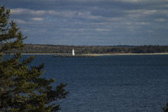 McNab's Lighthouse. Looking out at McNab's Lighthouse from Haiifax Royalty Free Stock Image