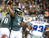 McNabb. Philadelphia Eagles quarterback Donovan McNabb gets off a pass in the first quarter of a 2009 game Royalty Free Stock Photography