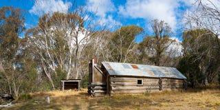 McNamara Hut. (Buckety Plain Hut) on the Bogong High Plains, Victoria, Australia Stock Photos