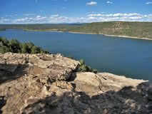McPhee Reservoir. In southwestern Colorado offers opportunities for boating, hiking, picnicking and camping Royalty Free Stock Photo