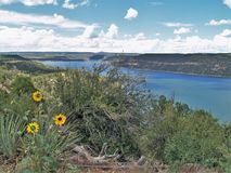 McPhee Reservoir. In southwestern Colorado offers opportunities for boating, hiking, picnicking and camping Stock Image