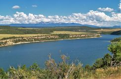 McPhee Reservoir. In southwestern Colorado offers opportunities for boating, hiking, picnicking and camping Stock Photo