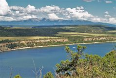 McPhee Reservoir. In southwestern Colorado offers opportunities for boating, hiking, picnicking and camping Stock Photos
