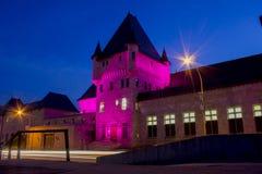 McTavish-Reservoirgebäude nachts lizenzfreie stockfotografie
