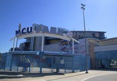 MCU球场布鲁克林的科尼岛部分的一个业余棒球体协体育场 图库摄影